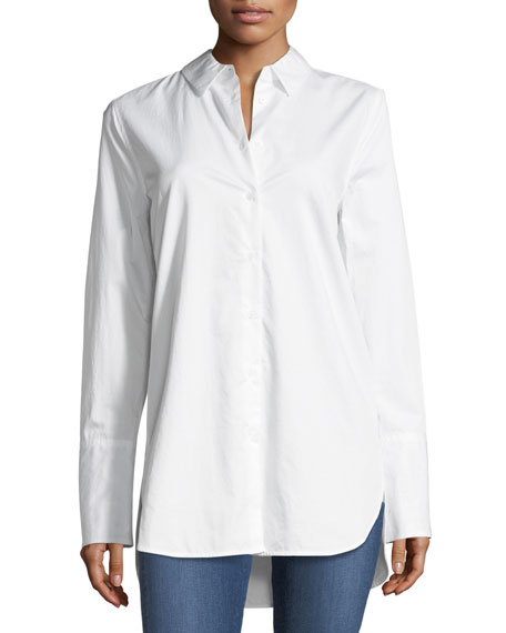 Equipment Arlette Button-Front Cotton Shirt