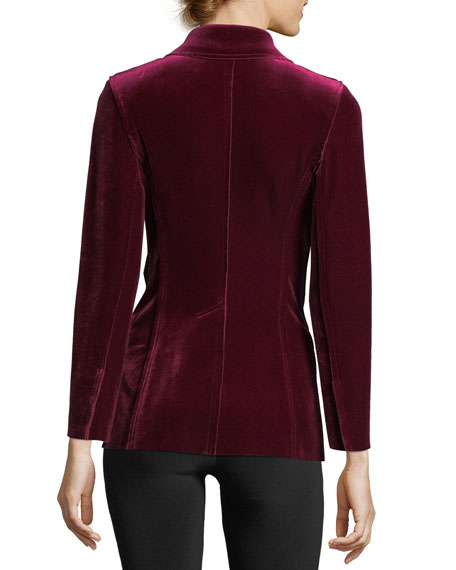 Velvet Tailored Blazer Jacket