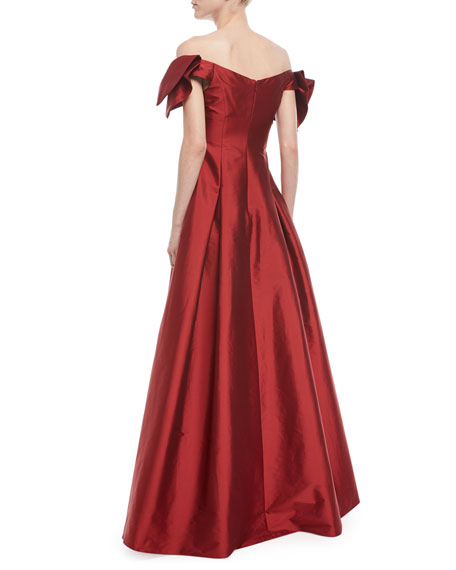 Off-the-Shoulder Semi-Sweetheart Gown