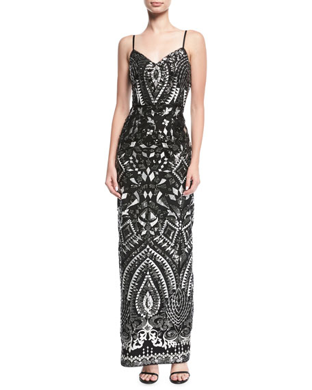 Aidan by aidan mattox embroidered sleeveless sequined evening gown aidan by aidan mattox embroidered sleeveless sequined evening gown neiman marcus junglespirit Gallery