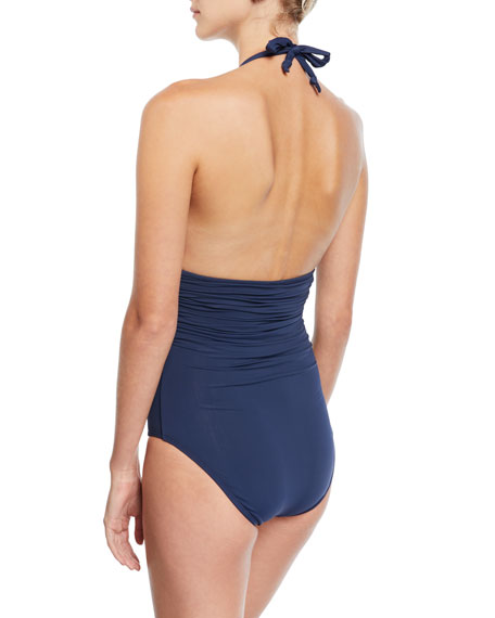 Bia Tube One-Piece Swimsuit, Midnight