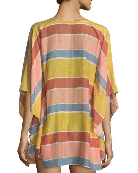Guadalupe Striped Caftan Coverup