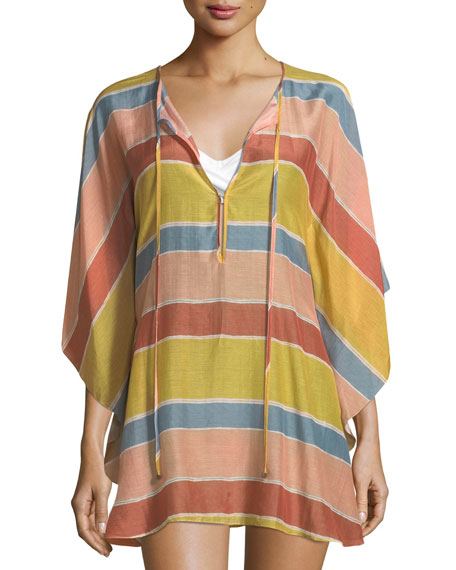 Guadalupe Striped Caftan Coverup
