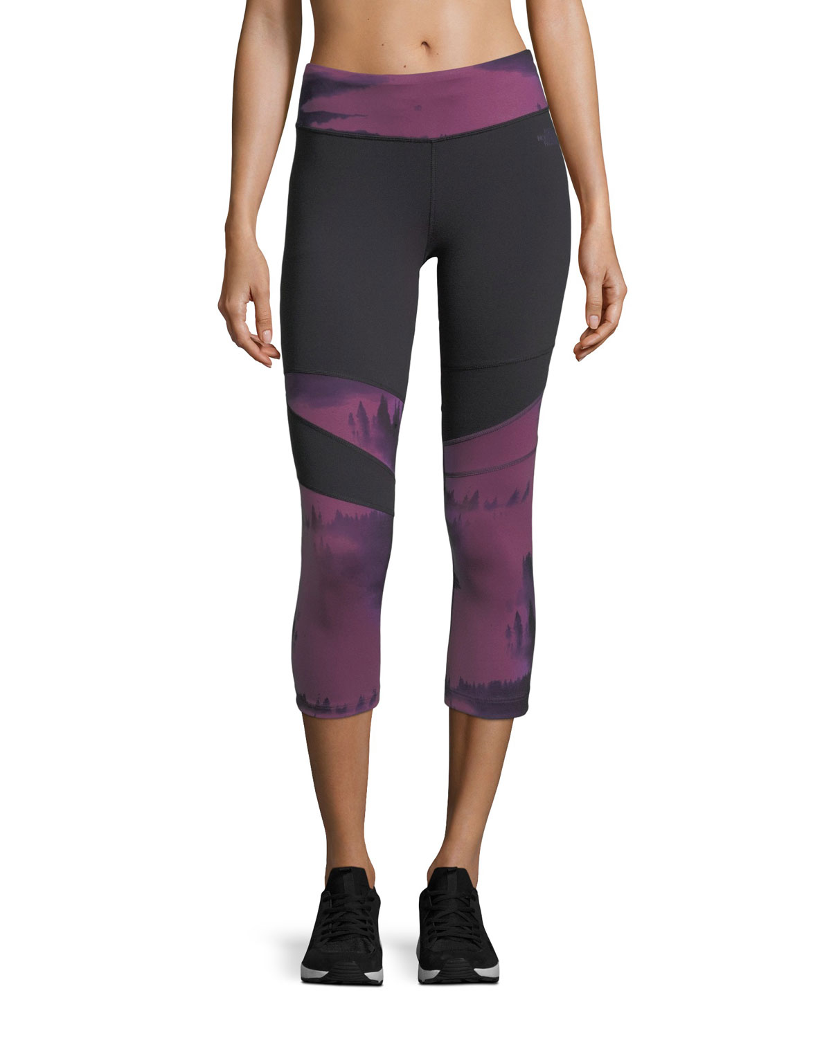 88ce1b47c166c The North Face Motivation Printed Crop Sport Leggings | Neiman Marcus