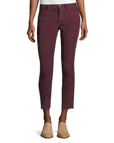 The Stiletto Corduroy Skinny-Leg Ankle Jeans