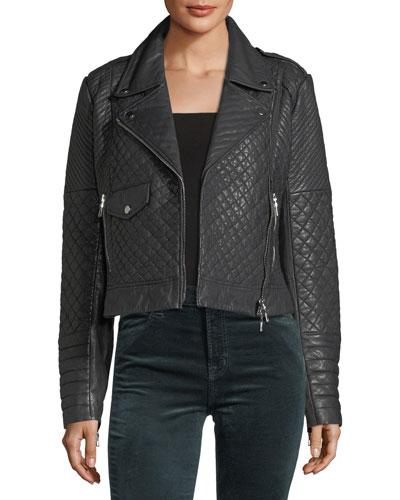 Michilen Leather Moto Jacket
