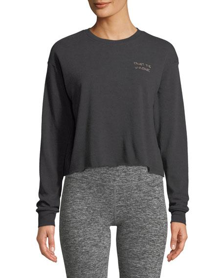 Spiritual Gangster Trust Stitch Crewneck Crop Sweatshirt