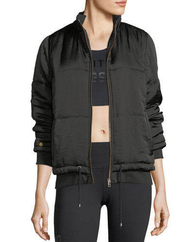 Wild Moon Zip-Front Bomber Jacket