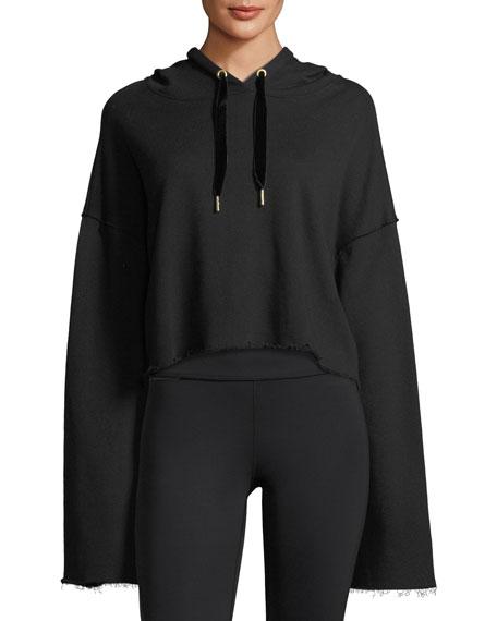 Alala Stance Bell-Sleeve Cropped Hoodie Sweatshirt
