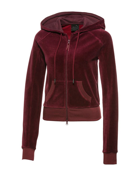 Fenty Puma by Rihanna VELOUR FITTED ZIP-UP TRACK