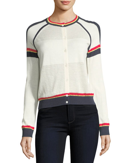 Neiman Marcus Cashmere Collection Cashmere Athletic Striped
