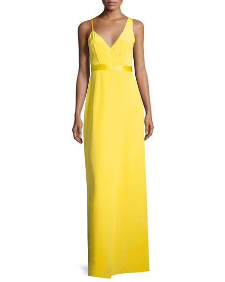 Diane von Furstenberg Asymmetric Sleeveless Side-Slit Gown,