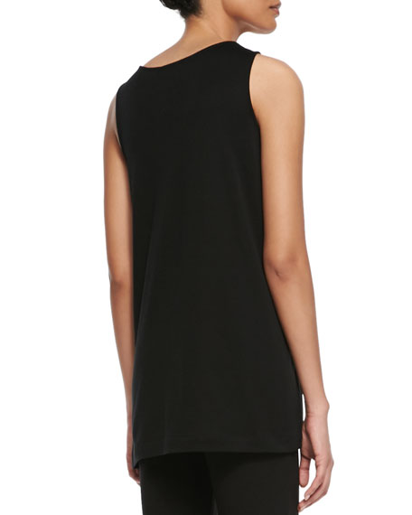 Scoop-Neck Cotton Interlock Tunic/Tank, Plus Size