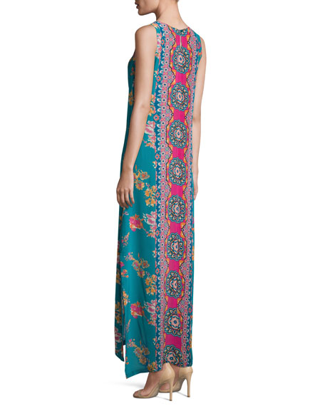 Kendall Sleeveless Floral-Print Maxi Dress