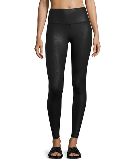 Airbrush Printed High-Waisted Sport Leggings