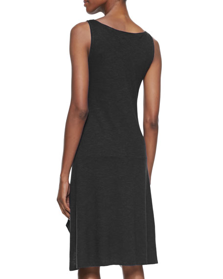 Organic Cotton/Hemp Twist Sleeveless Dress, Black