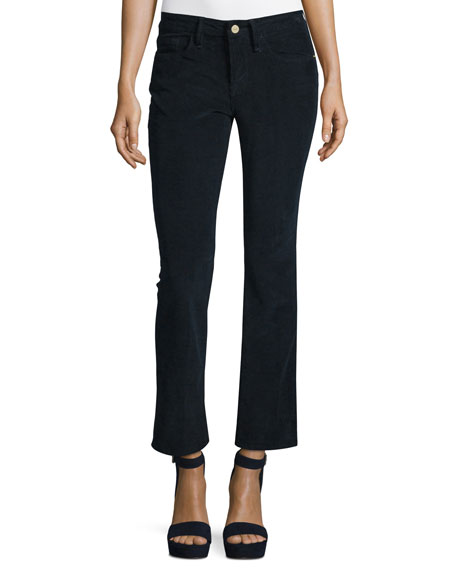 FRAME Le Crop Mini Boot-Cut Corduroy Pants, Deep