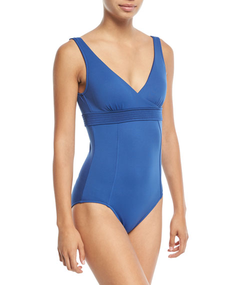 Seafolly Wrap-Front Maillot One-Piece Swimsuit