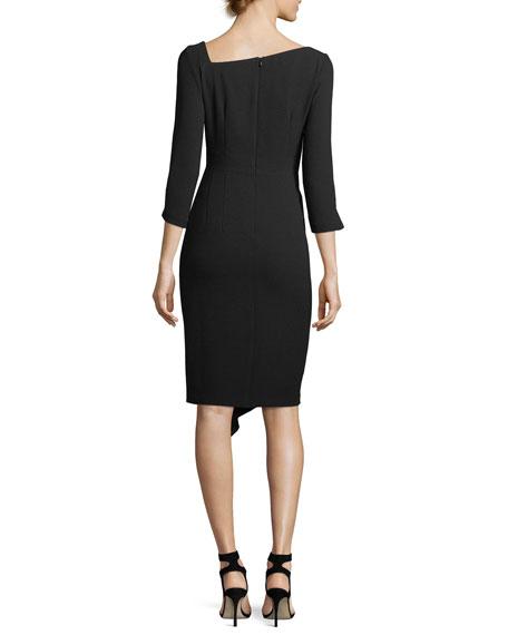 Can Can Asymmetric 3/4-Sleeve Dress
