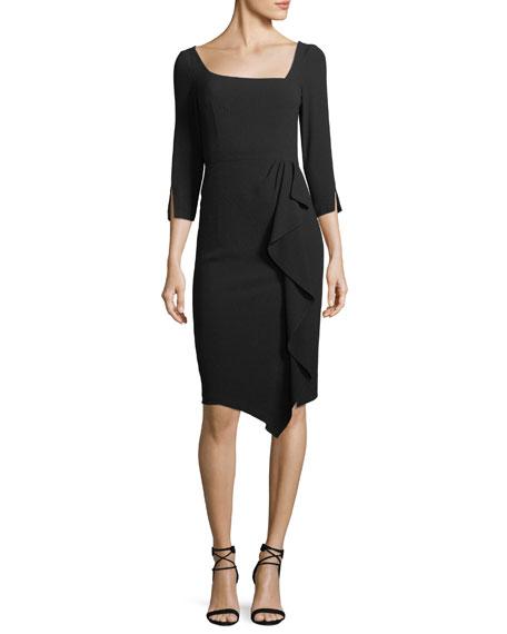 Nanette Lepore Can Can Asymmetric 3/4-Sleeve Dress