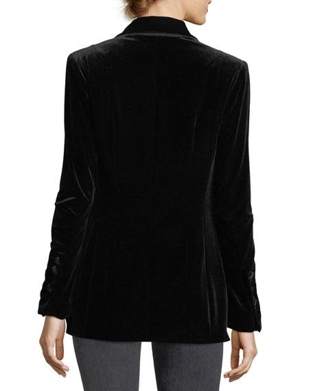 Illusionist Velvet Blazer Jacket