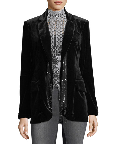 Nanette Lepore Illusionist Velvet Blazer Jacket and Matching