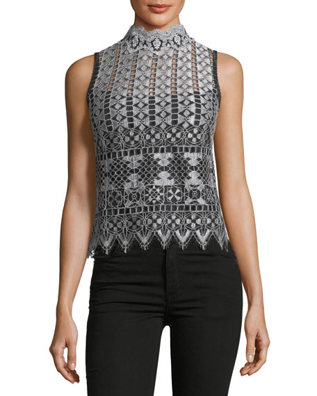 Magic Trick Sleeveless Lace Top