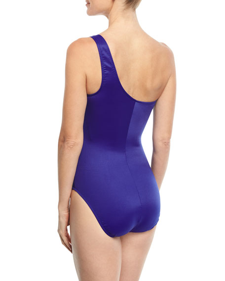Janie One-Shoulder Solid One-Piece Swimsuit
