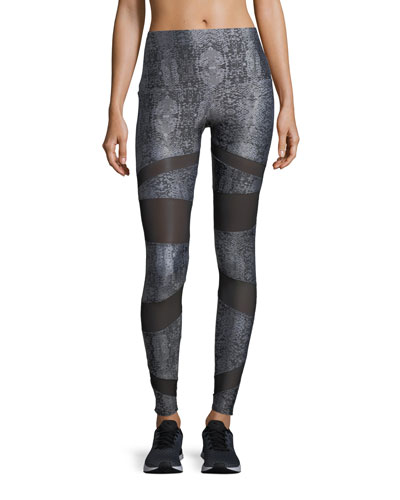 Onzie Bondage High-Rise Performance Leggings w/ Mesh