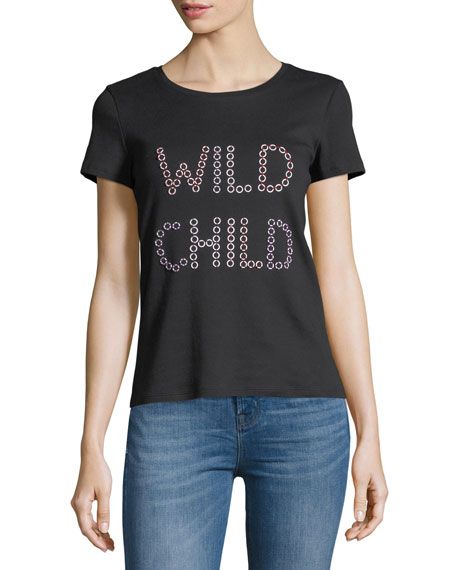 Alice + Olivia Rylyn Wild Child Short-Sleeve Graphic
