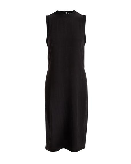 Patsy Crewneck Sleeveless Silk Tunic Dress