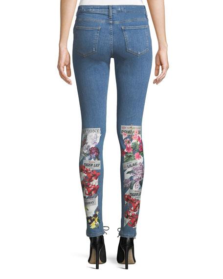 Flower Shop Printed Skinny Jeans