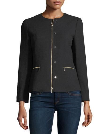 Kerrington Leather-Trim Jacket