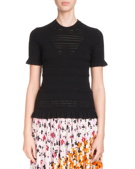Kenzo Floral-Print Pleated Midi Skirt with Asymmetric Hem