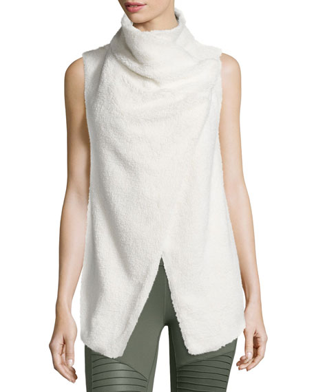 Alo Yoga Cozy Up Draped Sport Vest, Natural