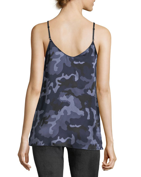 Garment Washed Camo Silk Camisole