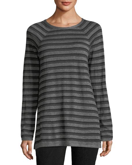 Wool-Blend Striped Tunic