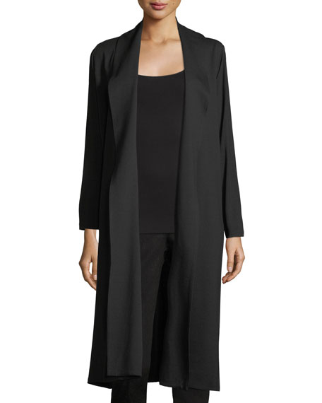 Eileen Fisher Shawl-Collar Open-Front Knit Jacket