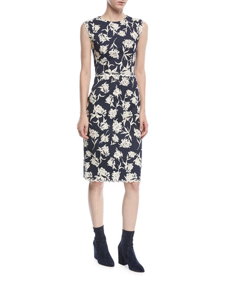 Sachin & Babi Lillie Scalloped Floral-Print Dress