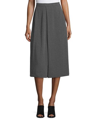 Lightweight Jersey Wide-Leg Crop Culottes