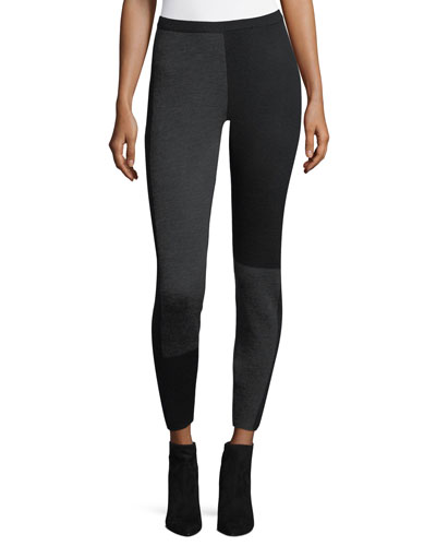 Colorblock Wool-Blend Leggings