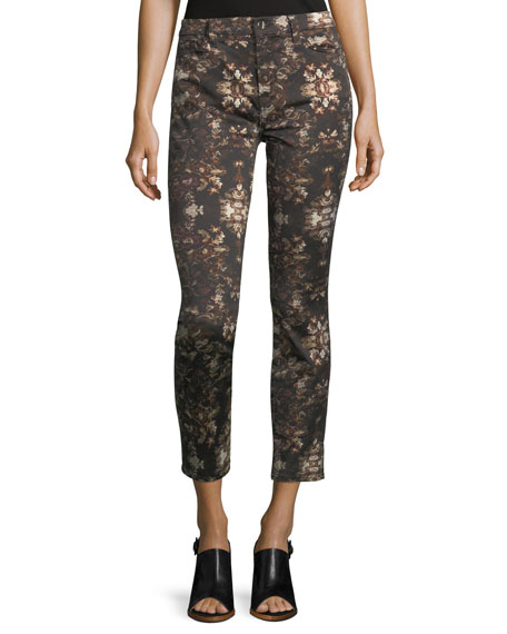 Grand Baroque Floral-Print Ankle Jeans