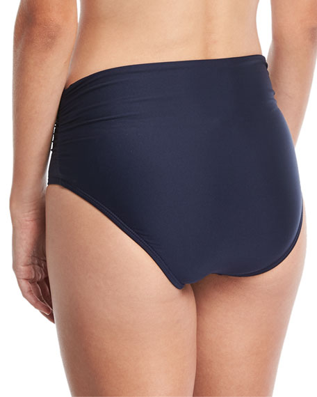 Premier High-Waist Banded Swim Bikini Bottom