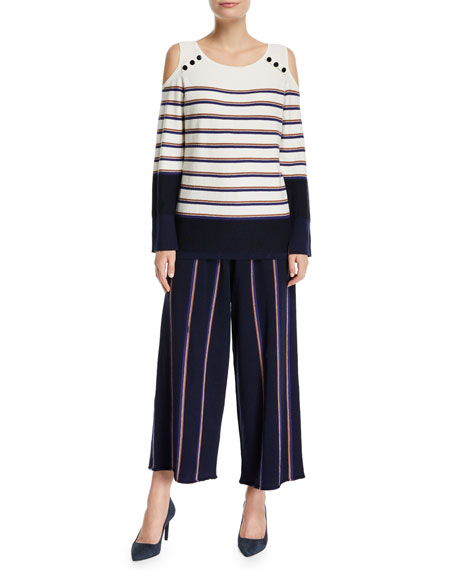 Lined Up Vertical Striped Pants, Plus Size