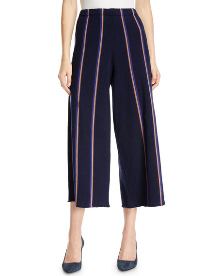 Lined Up Vertical Striped Pants, Petite