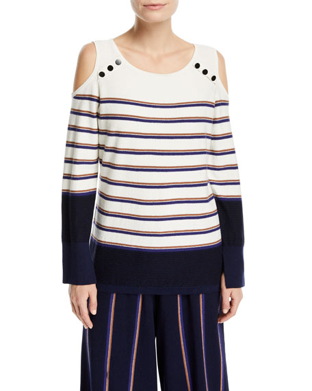 NIC+ZOE Spring Ahead Striped Top, Petite