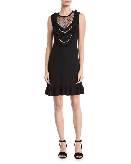 Nanette Lepore Sideshow Sleeveless Wool Cocktail Dress w/