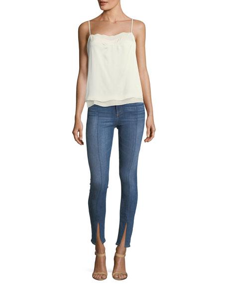 Yuki High-Rise Skinny Jeans w/ Fuse & Slit