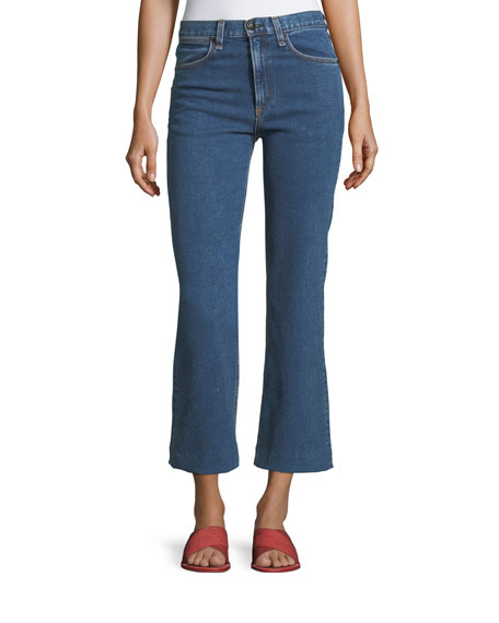 rag & bone/JEAN Justine High-Rise Cropped Wide-Leg Jeans