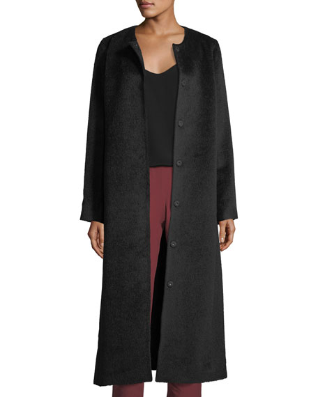 Eileen Fisher Drapey Suri Alpaca-Blend Calf Length Coat